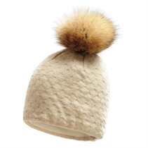 Show details for Imagine Beanie Real Fur pom
