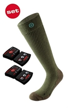 Show details for Lenz Heated Sock 3.0 Olive green +1200 Battery
